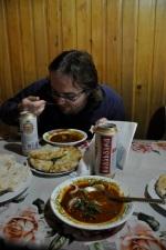 w drodze do Mestii - przerwa na obiad