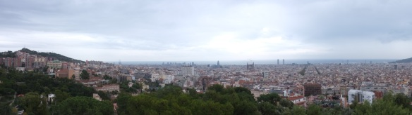 Barcelona widziała z Parc Guell