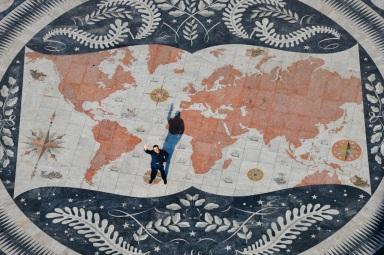 mapa świata widziana ze szczytu Miecza w Belem