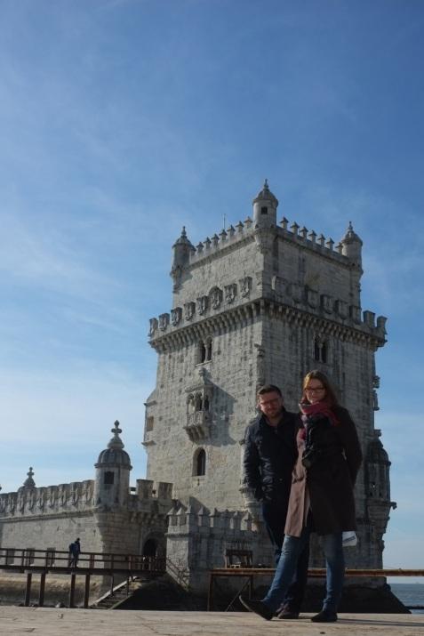 my przy wieży Belem