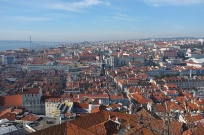 widok na Lizbonę z zamku św. Jerzego