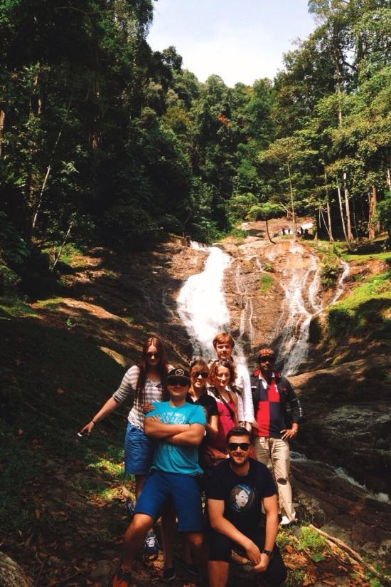 nasza grupa przy wodospadzie