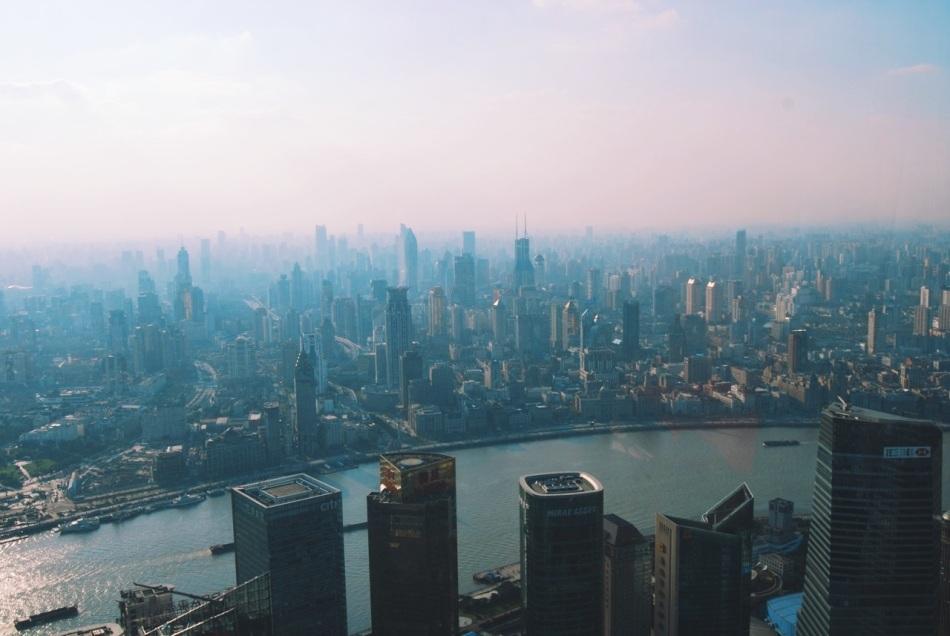 Shanghai Skyline widziane z Jin Mao Tower