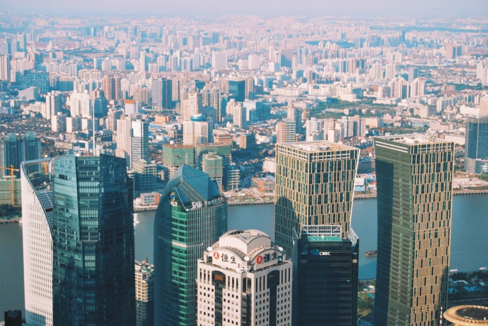 widoki z Jin Mao Tower