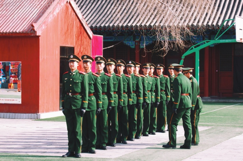 stacjonujące do tej pory na terenie Zakazanego Miasta oddziały armii CHRL