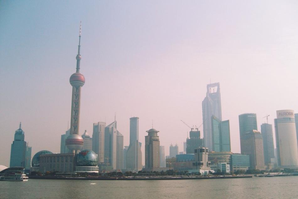 Szanghaj Pudong w styczniu 2008 roku