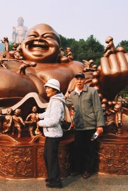 Chińczycy przy Buddzie płodności