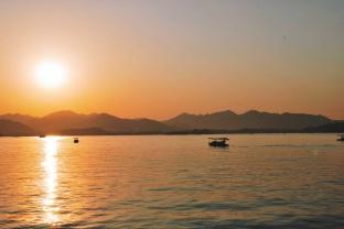 zachód słońca nad Jeziorem Zachodnim, Hangzhou