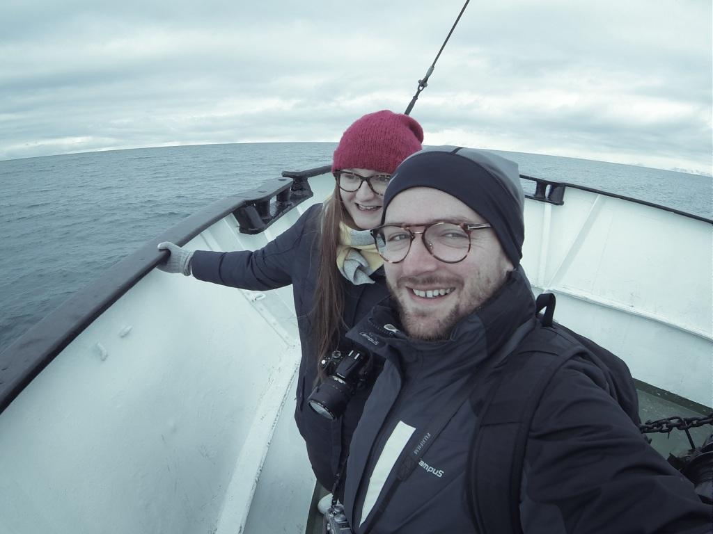 ja i Madzia na MS Longoysund - Isforden, Morze Grenlandzkie