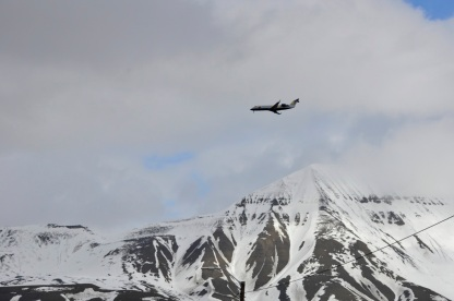 Lądowanie w Longyearbyen
