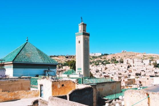 Al-Karawijjin widziany z dachu sklepu z dywanami