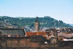 Fez widziane z dachu sklepu z dywanami