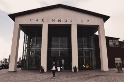 Marinmuseum w Karlskronie - mały ludzik na froncie to Magdalena