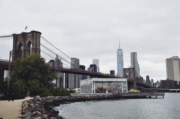 widok na Manhattan z DUMBO