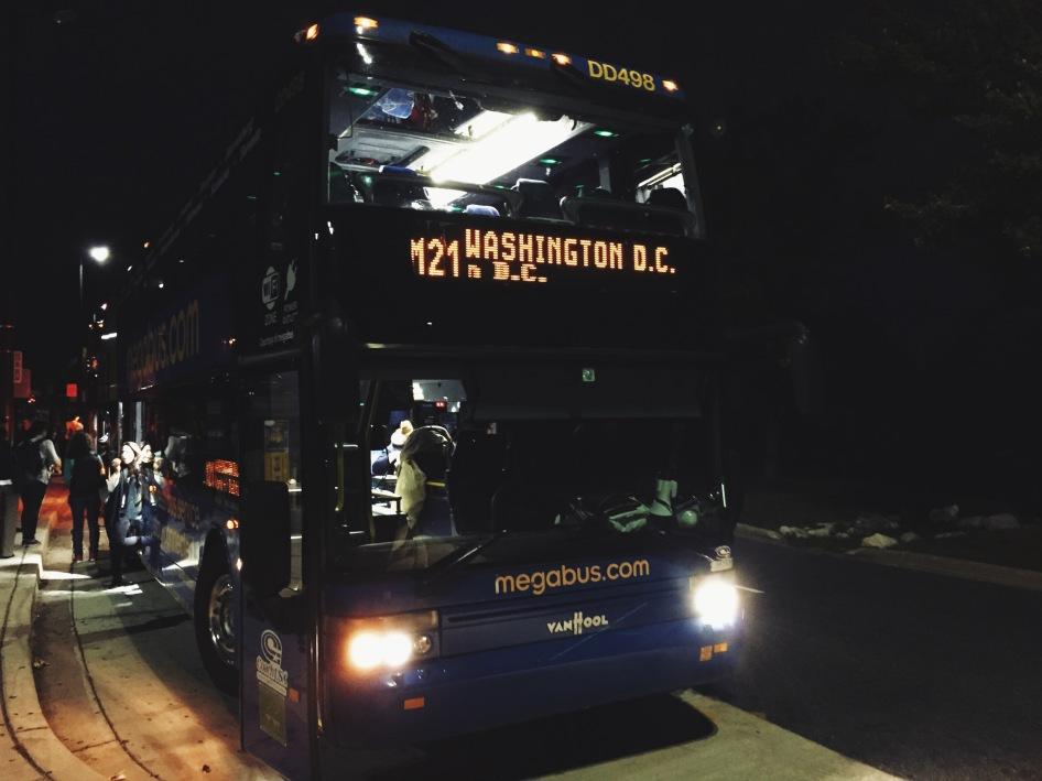 Megabus z Nowego Jorku do Waszyngtonu