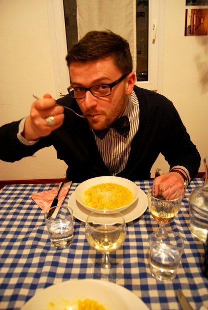 domowa kolacja w bolońskim domu