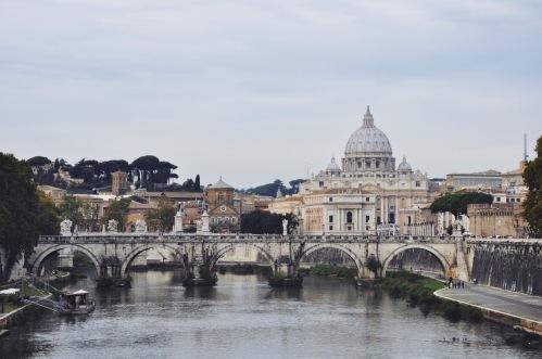 widok z mostu św. Anioła