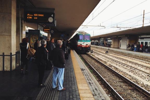 Bolonia Centrale, nasz pociąg do Florencji | regionalny