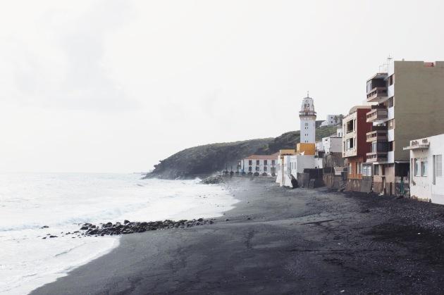 czarna plaża w Candelaria