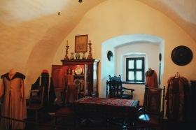 komnaty zamku w Niedzicy