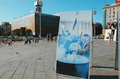 Majdan - plac Niepodległości w Kijowie
