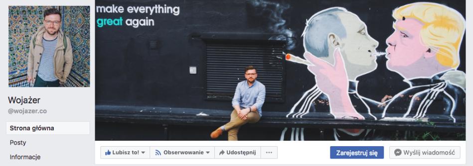 Wojażer facebook fanpage